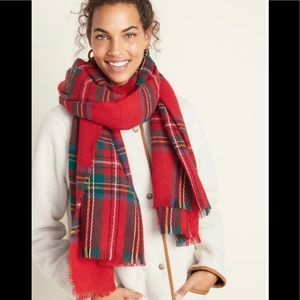 Red & Green Oversized Scarf